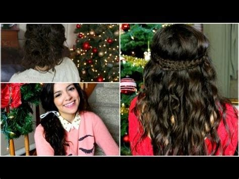 no heat holiday curls easy hairstyles youtube