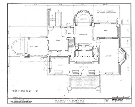 chicago mansion floor plan f l wright winslow house ground floor plan near