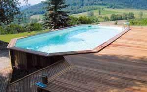 piscine bois semi enterree conseil astuces montage With attractive comment poser des margelles de piscine 6 terrasse pour poser une piscine