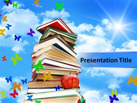 books powerpoint templates books  powerpoint book