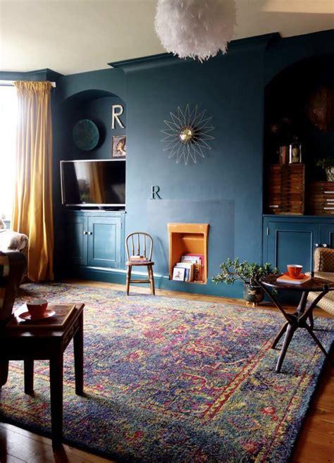 Déco Salon Bleu Pétrole Et Bleu Canard- Comment En Tirer