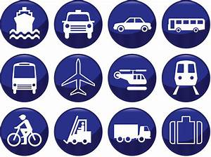 Blue transport icons vector | Vector Graphics Blog
