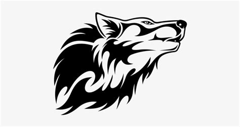 wolf head vector clipart cabeza de  lobo tribal