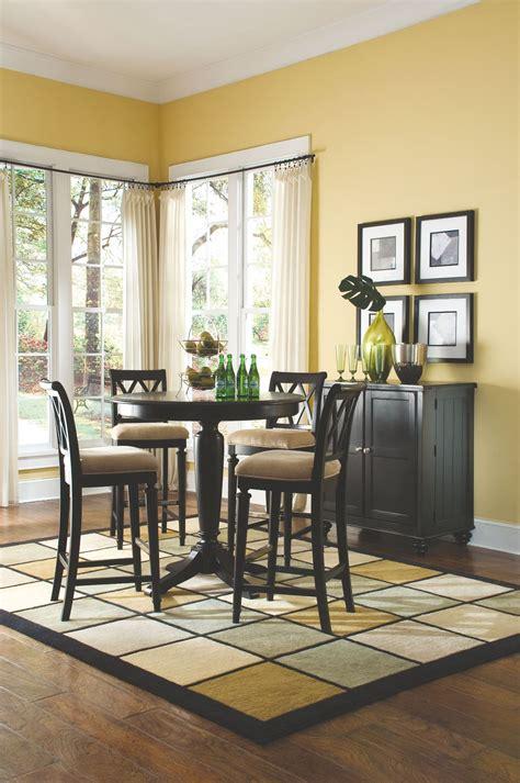 camden black  counter height pedestal dining room set