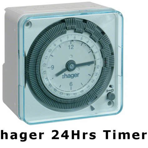 hager eh711 24hrs analog timer switch wall mount for