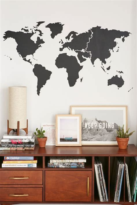 walls  love world map wall decal urban outfitters