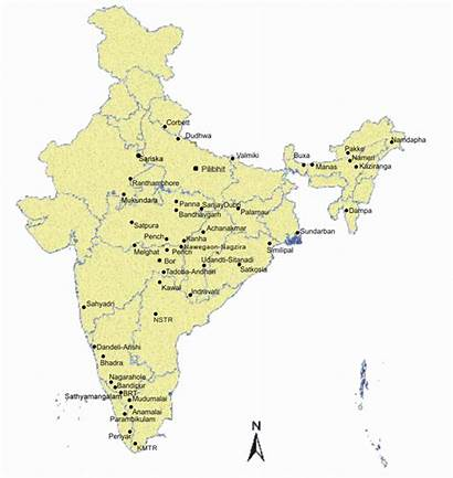 Tiger India Reserves Map Project Location Conservation