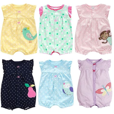 Infant Clothes by Newborn Baby Clothes Cotton Baby Clothes 2018 Summer