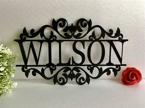 personalized   laser cut acrylic metal sign outdoor etsy