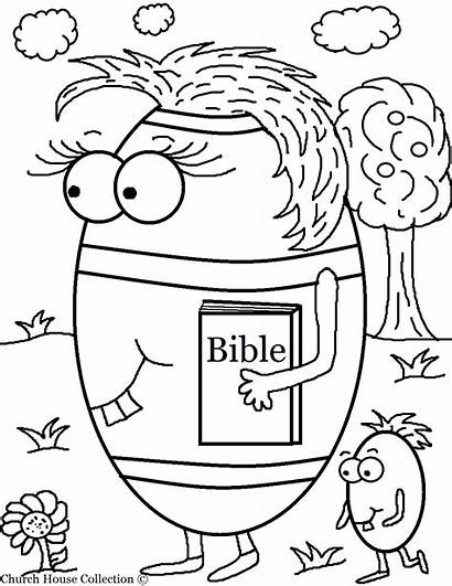 Coloring Bible Pages Easter Christian Egg Children