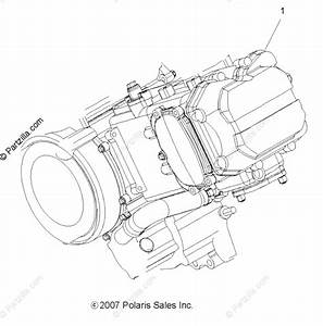 Polaris Atv 2012 Oem Parts Diagram For Engine  Short Block