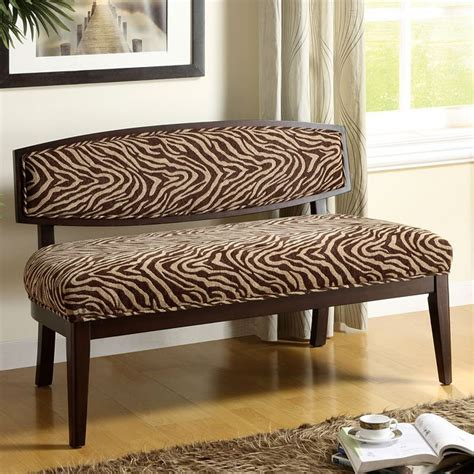 Animal Print Benches by Animal Print Bench With Backrest By World Imports
