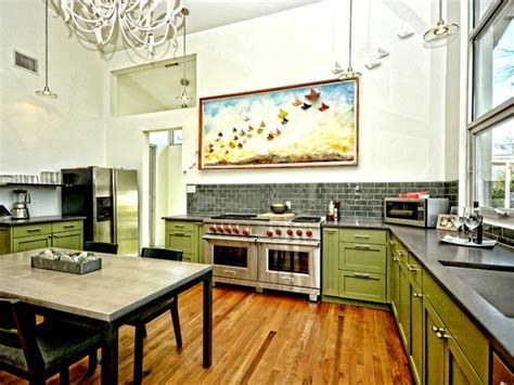 Warm Commercial Kitchen in Small Austin Home