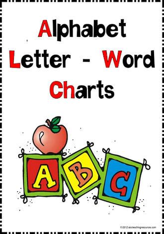 smart learning alphabet charts abc teaching resources