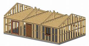 Charpente Traditionnelle Bois En Kit : plan de maison 2 pieces 9 charpente traditionnelle en ~ Premium-room.com Idées de Décoration