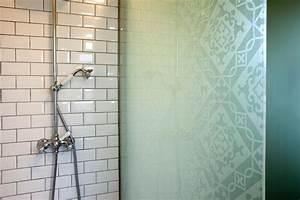 Paroi Douche Verre Sablé : paroi de douche en verre atelier du verre cr ations ~ Premium-room.com Idées de Décoration