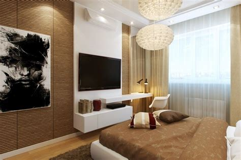 wonderful modern bedroom features bamboo walls tv wall