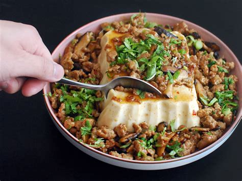 soft tofu recipes chinese american mashup silken tofu with spicy sausage serious eats