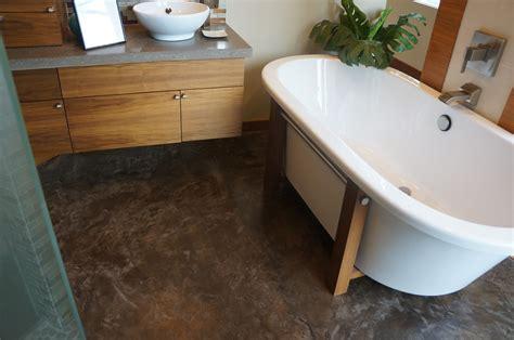 Concrete Bathroom Floor With Dark Color For Bathroom