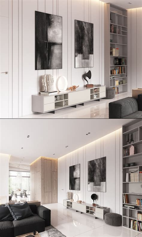 Minimalist Muted Colour Home With Scandinavian Influences by Nothing Utterly Stylish Homes Multi Level Living Space