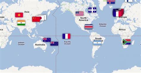 Carte Du Canada Le Monde En Marche by La Carte Du Monde Des Colos De Vacances Qui Ont Du Sens