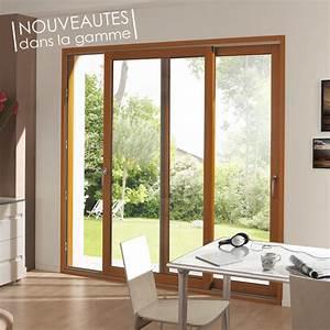 fenetres et portes fenetres bois coulissantes lignal With porte fenetre 2 vantaux bois
