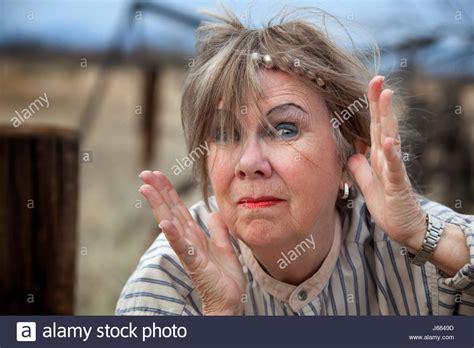 Crazy Old Woman Stock Photos & Crazy Old Woman Stock