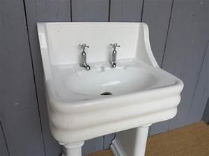 Vintage Pedestal Sink Faucet — Cablecarchic Interior