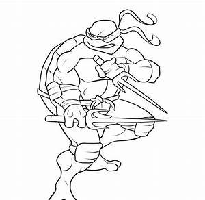 Ninja Turtle Michelangelo Coloring Pages