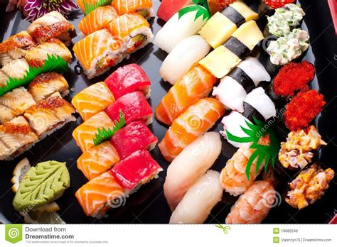 被分类的日本寿司 免版税库存图片 - 图片: 18680246