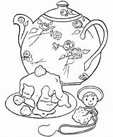 Coloring Teapot Pages Popular sketch template