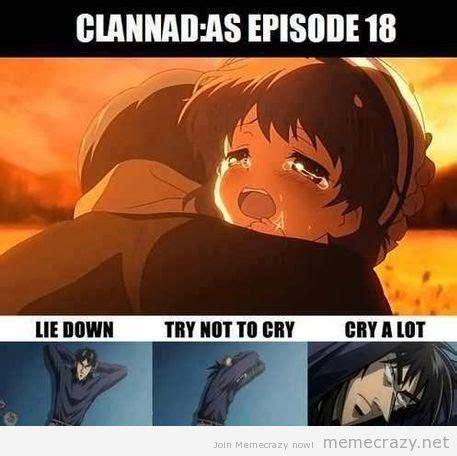 Sad Anime Memes - clannad sad meme google search funny feels anime
