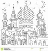 Moschea Zentangle Islamic Coloring Mosque Islamitische Stileerde Moskee Ramadan Colorare Drawing Stilizzato Islamica Ha sketch template