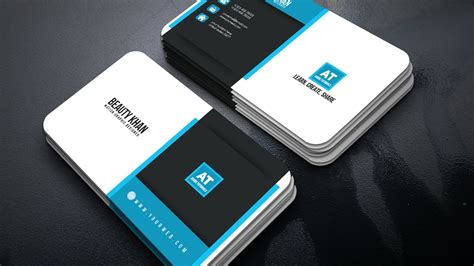 Clean Corporate Business Card Design Audio Engineer Business Card Template Free Electronic Design Mining App Vcf Cards Are At Www.vistaprint.com Software Mockup Behance