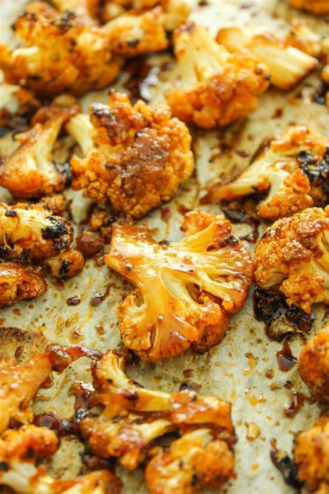 sweet  spicy baked cauliflower recipe vegetable