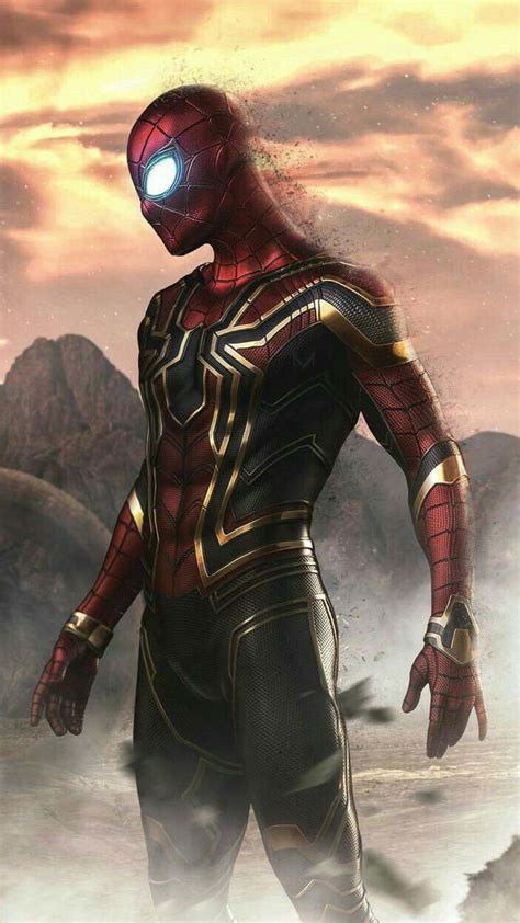 spider man disappearing titan fight iphone wallpaper