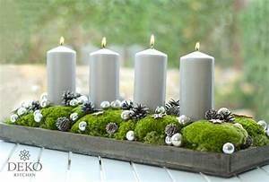Adventskranz Ohne Rohling Binden : diy h bscher l nglicher adventskranz mit moos und kugeln deko kitchen ~ Markanthonyermac.com Haus und Dekorationen