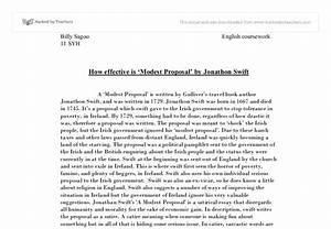 Modest Proposal Essay Ideas Creative Writing Ppt Modest Proposal  Modest Proposal Essay