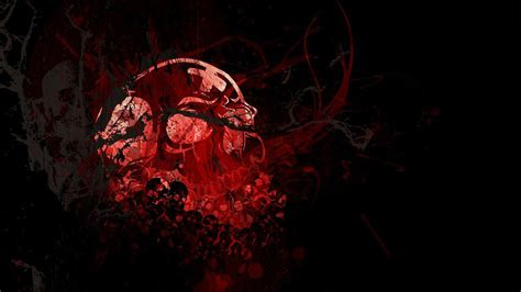 Cool Blue Background Hd Red And Black Skull Wallpapers 44 Wallpapers Adorable Wallpapers