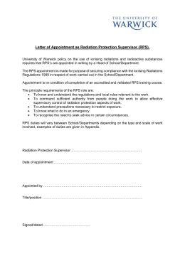 radiation risk assessment template