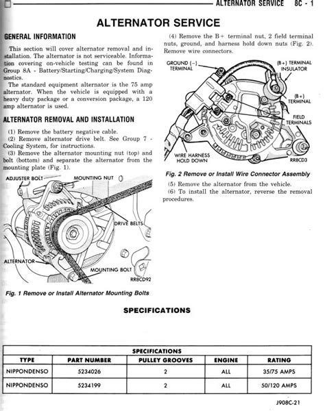 Dodge Ram Alternator Wiring Diagram