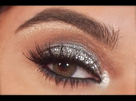 silver glitter eye makeup tutorial youtube