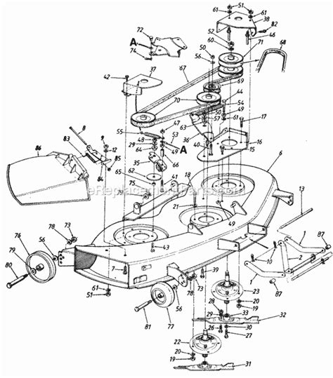 mtd 46 inch drive belt diagram mtd 140 840h205 parts list and diagram ereplacementparts