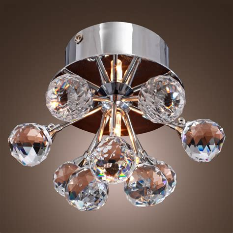 modern crystal light fixtures modern floral shape crystal ceiling light fixture flush