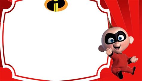 baby jack parr incredibles invitation template