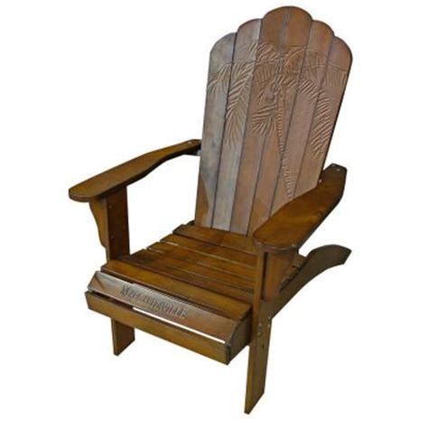 Margaritaville Classic Adirondack Chair by Margaritaville Classic Wood Carved Coconut Palm Tree