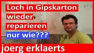 Loch Kunststofftür Reparieren : loch in gipskarton rigips verschlie en reparieren youtube ~ Buech-reservation.com Haus und Dekorationen