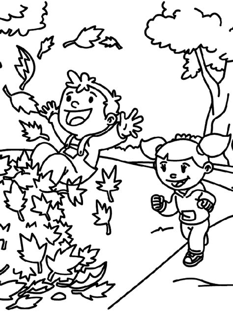 fall time coloring page crayola