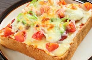 toast recipe vegetarian pizza toast recipe sparkrecipes