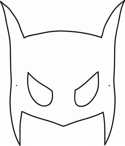 Mask Batman Template Halloween Printable Bat Masks